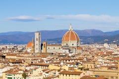 Εναέρια άποψη της Φλωρεντίας, Τοσκάνη, Ιταλία Στοκ φωτογραφίες με δικαίωμα ελεύθερης χρήσης