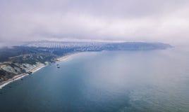 Εναέρια άποψη της χρυσής γέφυρας πυλών στο Σαν Φρανσίσκο Στοκ φωτογραφία με δικαίωμα ελεύθερης χρήσης
