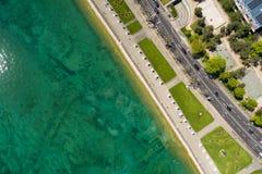Εναέρια άποψη της leman προκυμαίας λιμνών πόλεων της Γενεύης στην Ελβετία Στοκ φωτογραφία με δικαίωμα ελεύθερης χρήσης