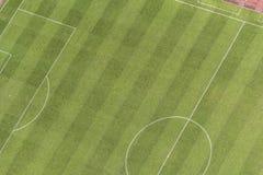 Εναέρια άποψη του αθλητικού τομέα ποδοσφαίρου Στοκ Εικόνα