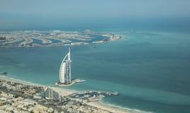 Εναέρια άποψη του αραβικού ξενοδοχείου Al Burj στο Ντουμπάι στοκ εικόνες με δικαίωμα ελεύθερης χρήσης