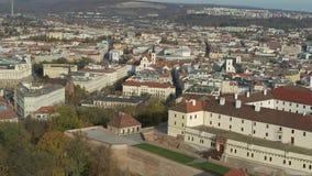 Εναέρια άποψη του αρχαίου κάστρου Spilberk απόθεμα βίντεο