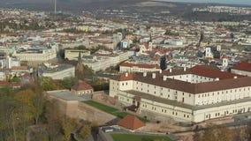 Εναέρια άποψη του αρχαίου κάστρου Spilberk φιλμ μικρού μήκους