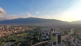 Εναέρια άποψη του βουνού της Sofia Βουλγαρία Ανατολική Ευρώπη Vitosha φιλμ μικρού μήκους