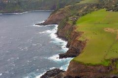 Εναέρια άποψη του δρόμου βόρειων ακτών Maui ` s στη Hana στοκ εικόνες με δικαίωμα ελεύθερης χρήσης