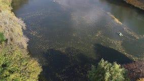 Εναέρια άποψη του εθνικού πάρκου Sofiyivka Dendrological σε Uman, Ουκρανία Μήκος σε πόδηα κηφήνων 4K φιλμ μικρού μήκους