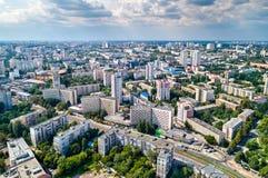 Εναέρια άποψη του εθνικού τεχνικού πανεπιστημίου της Ουκρανίας, επίσης γνωστού ως Igor Sikorsky Kyiv Polytechnic Institute στοκ εικόνες