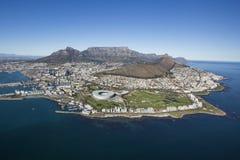 Εναέρια άποψη του επιτραπέζιου βουνού Νότια Αφρική του Καίηπτάουν στοκ φωτογραφία