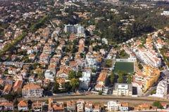 Εναέρια άποψη του Εστορίλ κοντά στη Λισσαβώνα στην Πορτογαλία Στοκ φωτογραφία με δικαίωμα ελεύθερης χρήσης