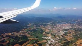 Εναέρια άποψη του ευρωπαϊκού τοπίου στοκ εικόνα