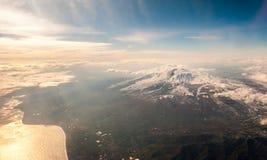 Εναέρια άποψη του ηφαιστείου Etna, στη Σικελία Στοκ Εικόνα