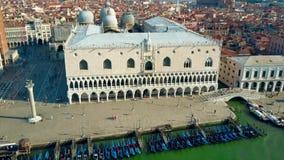Εναέρια άποψη του διάσημου Palazzo Ducale ή Doge ` s του παλατιού στη Βενετία, Ιταλία Στοκ φωτογραφία με δικαίωμα ελεύθερης χρήσης
