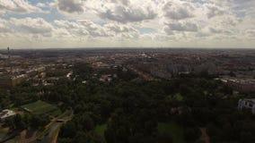 Εναέρια άποψη του ιστορικού κέντρου της Άγιος-Πετρούπολης με την άποψη σχετικά με τον κήπο Taurian απόθεμα βίντεο