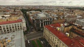 Εναέρια άποψη του ιστορικού κέντρου της Άγιος-Πετρούπολης φιλμ μικρού μήκους