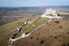 Εναέρια άποψη του κάστρου Spis, Σλοβακία στοκ εικόνες