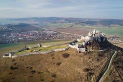 Εναέρια άποψη του κάστρου Spis, Σλοβακία στοκ φωτογραφίες με δικαίωμα ελεύθερης χρήσης