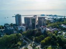 Εναέρια άποψη του κέντρου πόλεων Στοκ εικόνες με δικαίωμα ελεύθερης χρήσης