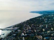 Εναέρια άποψη του κέντρου πόλεων Στοκ εικόνα με δικαίωμα ελεύθερης χρήσης