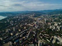 Εναέρια άποψη του κέντρου πόλεων στοκ φωτογραφία