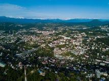 Εναέρια άποψη του κέντρου πόλεων στοκ εικόνες
