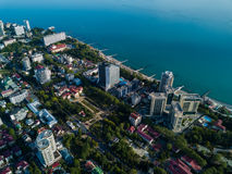 Εναέρια άποψη του κέντρου πόλεων στοκ εικόνα
