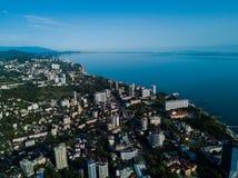 Εναέρια άποψη του κέντρου πόλεων στοκ φωτογραφίες