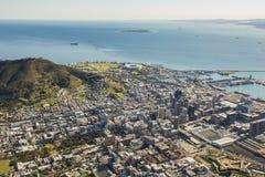 Εναέρια άποψη του Καίηπτάουν Νότια Αφρική στοκ εικόνες