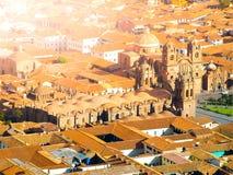 Εναέρια άποψη του καθεδρικού ναού Cusco Plaza de Armas, Cusco, Περού Στοκ φωτογραφίες με δικαίωμα ελεύθερης χρήσης