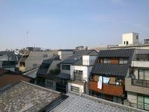 Εναέρια άποψη του Κιότο κεντρικός από το μπαλκόνι Στοκ Εικόνες