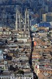 Εναέρια άποψη του Κουίτο, Ισημερινός Στοκ Εικόνες