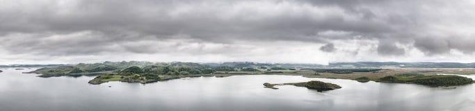 Εναέρια άποψη του κόλπου γύρω από Duntrune Castle, Argyll Στοκ εικόνες με δικαίωμα ελεύθερης χρήσης