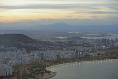 Εναέρια άποψη του κόλπου και Botafogo Guanbara Στοκ Φωτογραφία