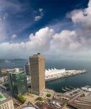 Εναέρια άποψη του μέρους του Καναδά στο Βανκούβερ μια ηλιόλουστη ημέρα Στοκ Φωτογραφία