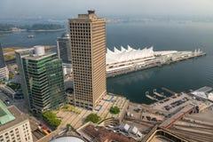 Εναέρια άποψη του μέρους του Καναδά στο Βανκούβερ μια ηλιόλουστη ημέρα Στοκ Φωτογραφίες