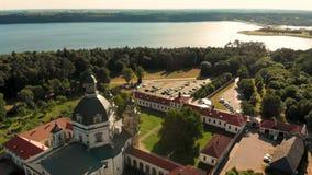 Εναέρια άποψη του μοναστηριού και της εκκλησίας Pazaislis τη θερινή ημέρα φιλμ μικρού μήκους