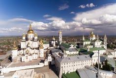 Εναέρια άποψη του μοναστηριού Pochaev, Ορθόδοξη Εκκλησία, Pochayiv Lavra, Ουκρανία Στοκ φωτογραφίες με δικαίωμα ελεύθερης χρήσης