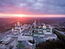 Εναέρια άποψη του μοναστηριού Pochaev, Ορθόδοξη Εκκλησία, Pochayiv Lavra, Ουκρανία Στοκ εικόνες με δικαίωμα ελεύθερης χρήσης