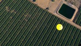 Εναέρια άποψη του μπαλονιού ζεστού αέρα φιλμ μικρού μήκους