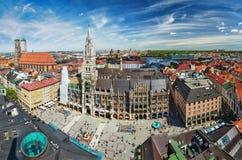 Εναέρια άποψη του Μόναχου, Γερμανία Στοκ φωτογραφία με δικαίωμα ελεύθερης χρήσης