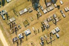 Εναέρια άποψη του νεκροταφείου στο νότο Gippsland στοκ φωτογραφία