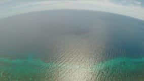 Εναέρια άποψη του νησιού ακτών Bohol _ Φιλιππίνες απόθεμα βίντεο