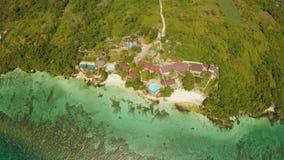 Εναέρια άποψη του νησιού ακτών Bohol _ Άποψη Fisheye Φιλιππίνες φιλμ μικρού μήκους