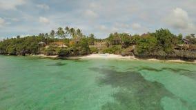 Εναέρια άποψη του νησιού ακτών Bohol _ Άποψη Fisheye Φιλιππίνες απόθεμα βίντεο
