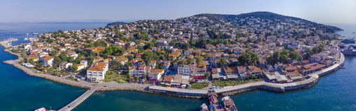 Εναέρια άποψη του νησιού Ιστανμπούλ πριγκήπων Στοκ εικόνα με δικαίωμα ελεύθερης χρήσης