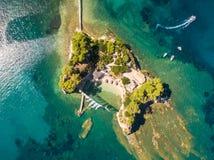 Εναέρια άποψη του νησιού καμεών στο νησί της Ζάκυνθου Zante, σε Gree στοκ εικόνες