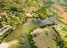 Εναέρια άποψη του νησιού του Μαυρίκιου στοκ εικόνες
