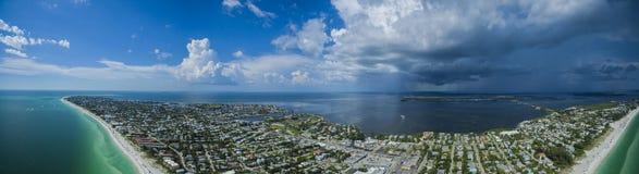 Εναέρια άποψη του νησιού της Anna Μαρία Στοκ εικόνα με δικαίωμα ελεύθερης χρήσης