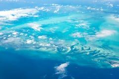 Εναέρια άποψη του νησιού Bahama - νησιά μούρων στον Ατλαντικό Ωκεανό Στοκ Εικόνες