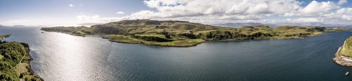 Εναέρια άποψη του νησιού Kerrera, Argyll Στοκ Εικόνες