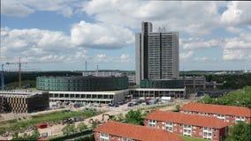 Εναέρια άποψη του νοσοκομείου Herlev, Δανία απόθεμα βίντεο